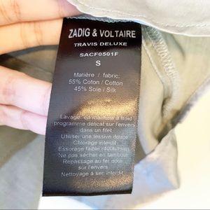 Zadig & Voltaire Tops - Zadig & Voltaire Satin Grey Silky Button Down Top